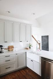 Kitchen Outstanding White Shaker Cabinets Hardware With Black