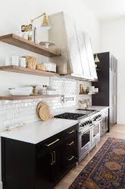 Modern Kitchen Shelves Design Black Is Back Rustic Kitchen Kitchen Design Kitchen Interior