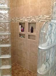 Bathroom: Glass Block Shower Close Up Of Thinner Wall Series Ideas - Glass  Block Shower