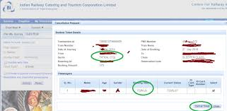 Cancellation Of Tatkal Ticket After Chart Preparation Irctc Tqwl 9 Tatkal Waiting Train Ticket Cancellation Charge