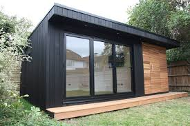 garden shed office. Garden Office With Storage Shed And Sauna Contemporary-home-office -and-library O