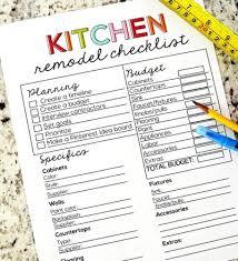 Kitchen Remodel Checklist Kitchen Remodel Checklist