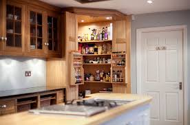 view in gallery custom crafted corner pantry in the kitchen design increation