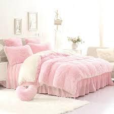 pink velvet duvet cover high quality purple blue pink creamy white cashmere wool velvet ruffle duvet cover bedding sets bed sheet duvet cover pillowcase in