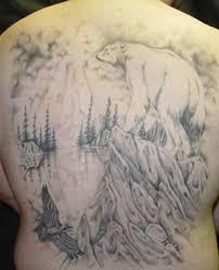 Forest Polar Bear Tattoo On Back Tattoos Book 65000 Tattoos Designs