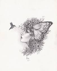 hummingbirds and flowers drawing.  Hummingbirds A Little Drawing I Did Of Hummingbird And Her Faerie Frieng With Hummingbirds And Flowers Drawing N