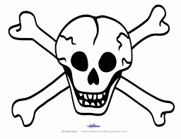 Skull And Crossbones Coloring Pages Coloring Home