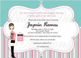 Diaper Shower Invitation Chic Mama Pink Mint Green Baby Shower Invitation