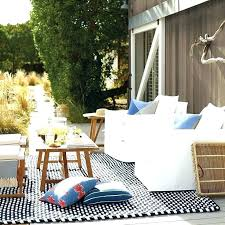 target blue and white outdoor rug