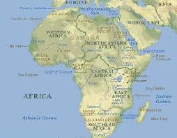 Африка  Располагаясь в районе экватора Африка протянулась на 8050 км от её самой северной точки мыса Эль Абьяд в Тунисе до её самого южного пункта Мыса agulhas
