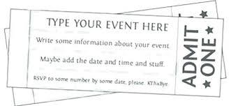 Free Concert Ticket Template Impressive Free Printable Raffle Ticket Template Admit One Ticket Template Free
