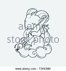 Cartoon Carino Drago Con Penna Vector Clip Art Illustrazione Per
