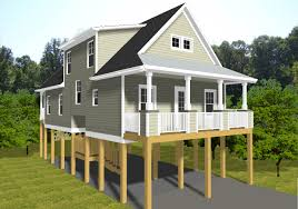 modern beach house plans on pilings with small cottage elevated