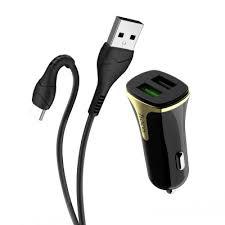 Автомобильная <b>зарядка Hoco Z31</b> USB — Type-C, 3.4А, черный в ...