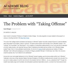 essays and media aaron r hanlon the problem taking offense