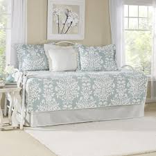 laura ashley rowland 5 piece breeze blue daybed set