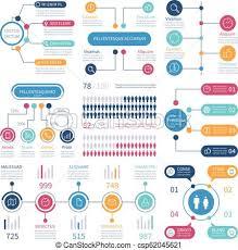 Infographic Financial Charts Workflow Graph Population Infocharts Analytics Bar Diagram Teamwork Vector Infographics