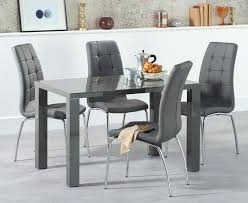 high gloss white table top dining and chairs round kitchen black torsby