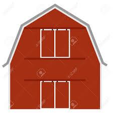 old red barn ot farm house barn door vector isolated farming stock vector