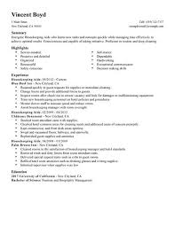 Housekeeping Resume Sample Resume For Housekeeping Job Viobo