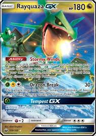 Jump to navigationjump to search. Collectible Card Games Ultra Rare Pokemon Card Rayquaza Gx Half Art 109 168 Celestial Storm Collectables Sloopy In