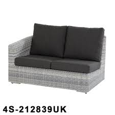edge rattan modular 2 seater right arm with 4 cushions
