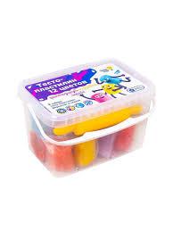 Набор Для <b>Лепки Тесто</b>-Пластилин 12 Цветов <b>GENIO</b> KIDS ...