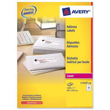 Avery Address Lables Avery Addressing Labels Laser Jam Free 14 Per Sheet 99 1x38 1mm