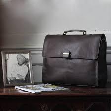 men s leather briefcase with shoulder strap