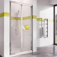 in6 bi fold shower door in chrome 900mm