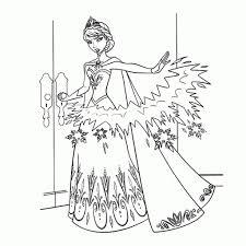 Elsa Frozen Kleurplaat Kleurplaat Vor Kinderen 2019 With Regard To