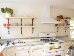 Inspiring Design Ideas Kitchen Wall Shelving Amazing Shelves With Plate And  Modern Stove 4710 ...