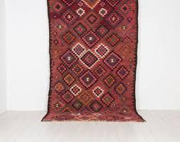 large vintage kilim rug 1
