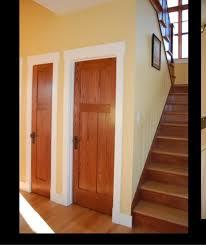 white trim wood doors