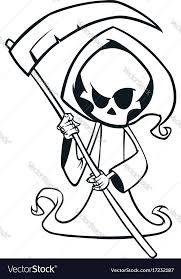 cute cartoon grim reaper with