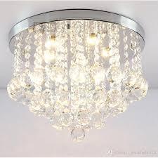 compre round k9 crystal ceiling lightlights silver chrome ceiling chandelier chandelier fitting lamp variedad de luz de cristal 13 a 53 48 del