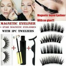 <b>1Set Magnetic Liquid</b> Eyeliner and False <b>Eyelashes</b> W/Tweezer ...