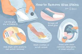 glue and adhesives stains from clothes