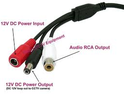 cctv security spy hidden mini mic microphone v output for cctv microphone connection diagram