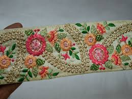 Saree Border Designs Images Buy Our Lovely Embroidered Trims For Your Fashion Designing
