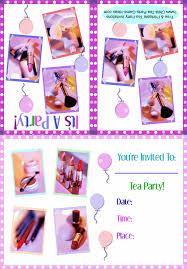 printable make up tea party invitation 3b