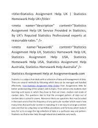 statistics assignment help statistics homework help uk c <title>statistics assignment help uk statistics homework help uk< title>