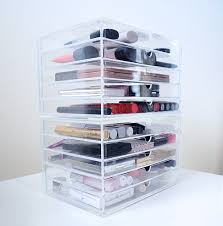 muji makeup storage acrylic makeup storage from muji