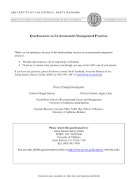 Pdf Survey Questionnaire On Corporate Environmental Management