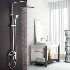 faucet sets bathroom. Dofaso Copper Bathroom Rain Shower Sets Bath Tap Faucet Chrome Set Faucets And Waterfall Showers Water Saving-in Heads From Home F
