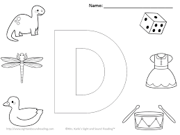 Download Printable Letter D Coloring Sheet Free Coloring Sheets