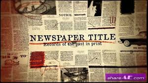 Newspaper Template After Effects Free Newspaper Free After Effects Templates After Effects Intro