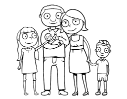 Small Picture Family To ColorToPrintable Coloring Pages Free Download