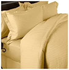 gold stripe queen sheet set and duvet set