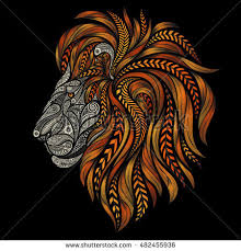 Beautiful Patterns Enchanting Vector Lion Beautiful Patterns Patterns Fiery Stock Vector Royalty